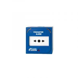 Buton adresabil de avertizare manuala incendiu Kilsen, culoare albastra (alarma evacuare)